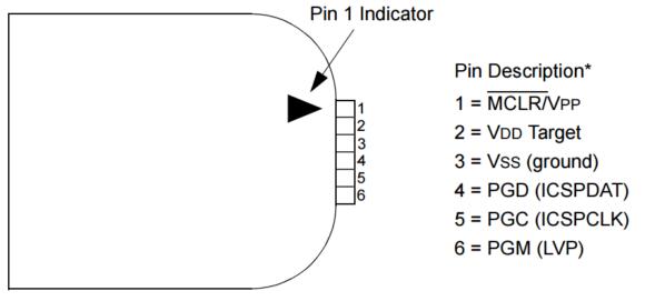 PICkit 3 ICSP port